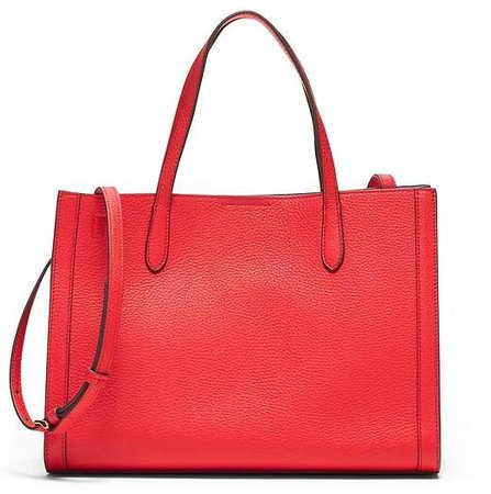 Italian Leather Medium Tailored Tote Bag