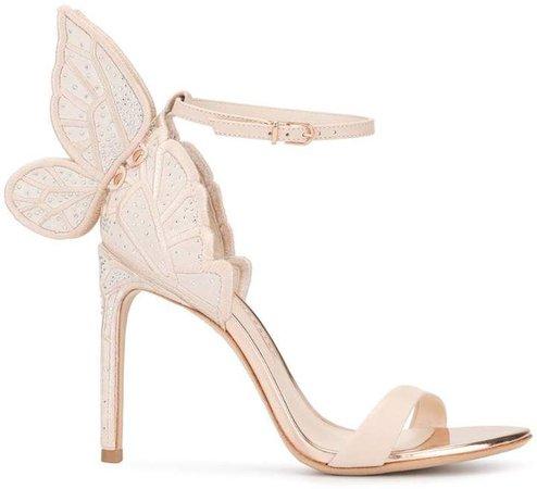 butterfly appliqué sandals