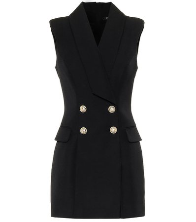 Balmain - Wool minidress | Mytheresa