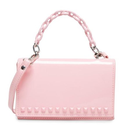 pink patent leather purse
