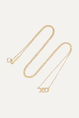 Gold XO 18-karat gold necklace | Jennifer Meyer | NET-A-PORTER