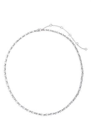 Nordstrom Cubic Zirconia Baguette Collar Necklace | Nordstrom