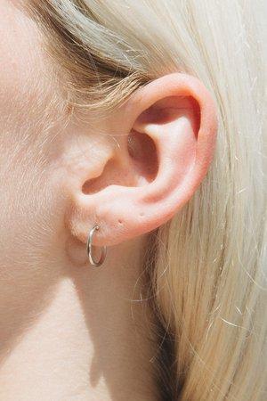 Mini Silver Infinity Hoop Earrings