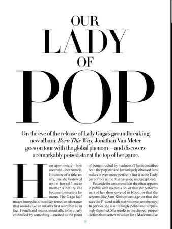 Lady GaGa article Vogue