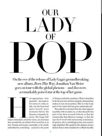 Lady GaGa article Vogue