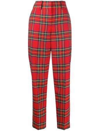 Balmain check-print Trousers - Farfetch