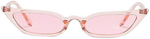 Lenfesh Women's Vintage Cat Eye Sunglasses Retro Small Frame UV400 Glasses Fashion Women Anti-UV Glasses Travel Sunglasses Protective Glasses - pink: Amazon.de: Bekleidung