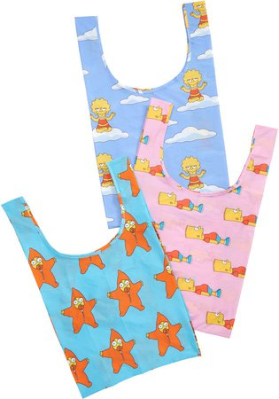 The Simpsons Set of 3 Standard Ripstop Nylon Totes