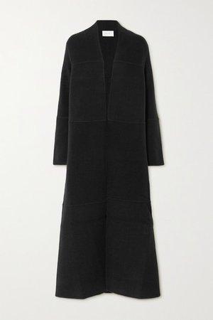 Ariane Paneled Cashmere And Wool-blend Coat - Black