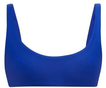 Rounded Edges Bikini Top - Womens - Blue