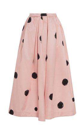 Polka-Dot Satin Midi Skirt by Christopher Kane | Moda Operandi