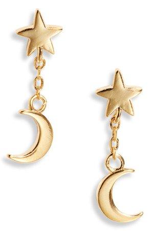 Star & Moon Drop Earrings | Nordstrom