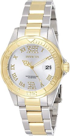 Invicta Women's 12852 Pro Diver Silver Dial Two Tone Watch: Invicta: Watches