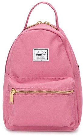 mini logo patch backpack