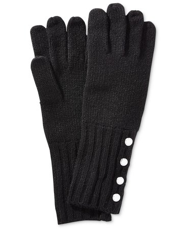 Michael Kors Ribbed-Knit Gloves