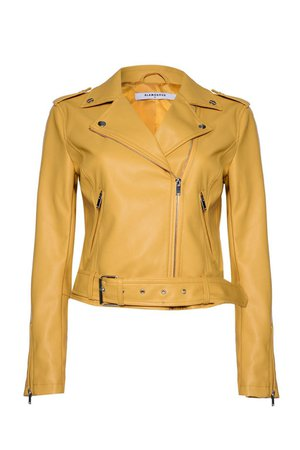 **Belted PU Jacket by Glamorous - Jackets & Coats - Clothing - Topshop