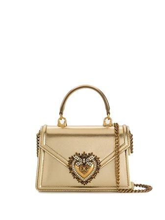 Dolce & Gabbana Bolsa Tote Devotion Mini De Couro - Farfetch