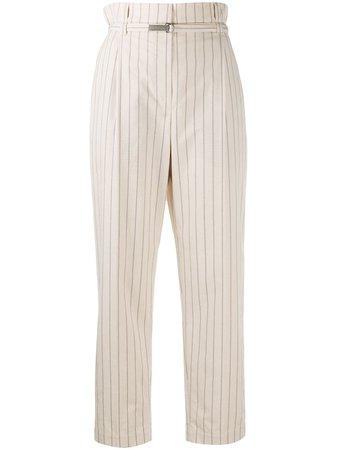 Pantalones con cintura paperbag Brunello Cucinelli por 1,090€ - Compra online SS21 - Devolución gratuita y pago seguro