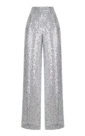 Silver Sequin Pants by Rasario | Moda Operandi