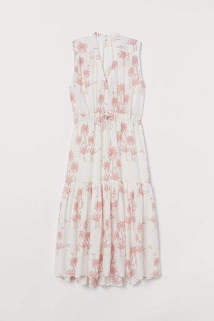 Cotton-blend Dress - White
