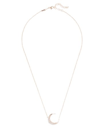 Jacquie Aiche | Diamond Crescent Moon Necklace | INTERMIX®