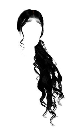 Black Hair PNG Ponytail