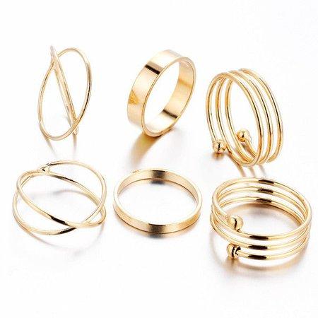 Gold Goddess Knuckle Rings