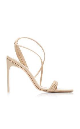 Abella Ruched Leather Sandals By Cult Gaia   Moda Operandi
