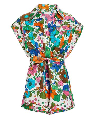 Zimmermann Riders Floral Linen Playsuit | INTERMIX®