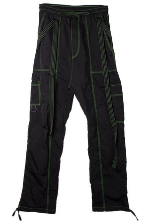 【DOOM 3K】GRAVER CARPENTERS PANTS/NEON GREEN/BLACK | NEW | | FAKE TOKYO.com