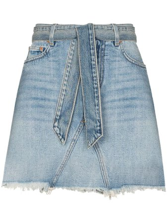 Givenchy Belted Denim Mini Skirt - Farfetch
