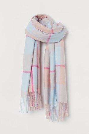 Scarf - Pink light blue - Ladies | H&M US