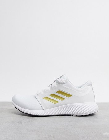 adidas Running edge luxe sneakers in white | ASOS