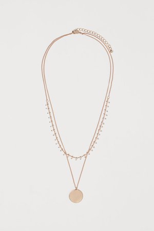 Two-strand necklace - Gold-coloured/White - Ladies | H&M IN