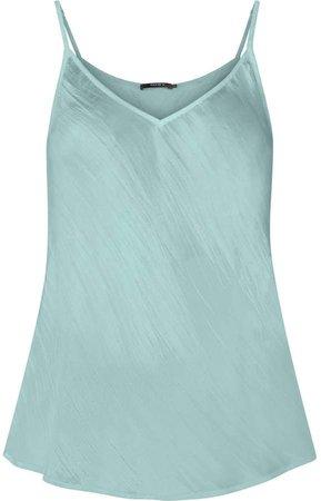 Gisy Turquoise Silk Bias Cut Camisole