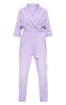 Lilac Denim Utility Jumpsuit | Denim | PrettyLittleThing USA
