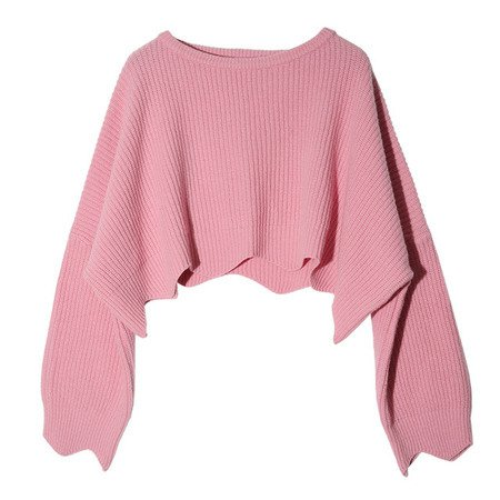 light pink crop sweater