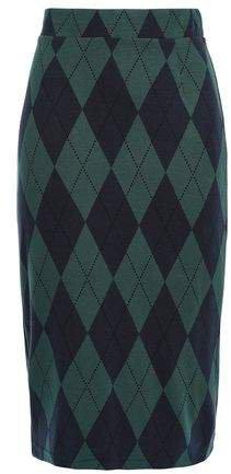 Argyle Ponte Pencil Skirt