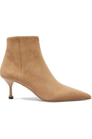 Prada | 65 suede ankle boots | NET-A-PORTER.COM