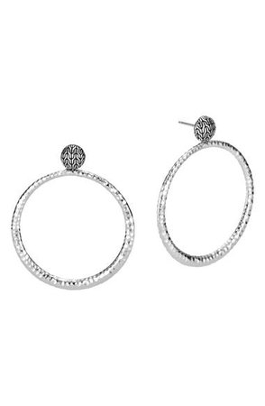 John Hardy Classic Chain Hammered Round Earrings   Nordstrom