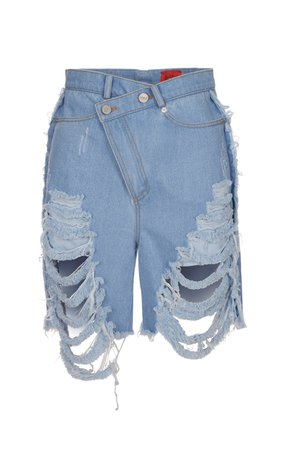 Kye Back Star Embroidery Denim Washing Trousers Size: 1