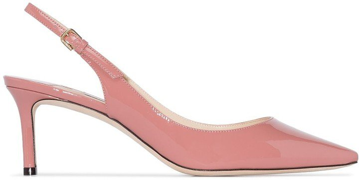 Erin 60mm patent-leather slingback pumps