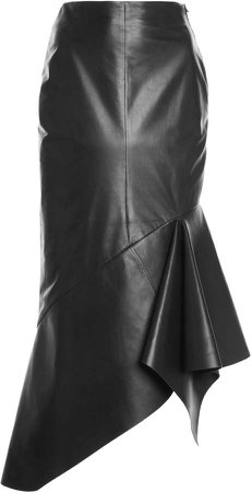 Tom Ford Asymmetric Leather Midi Skirt