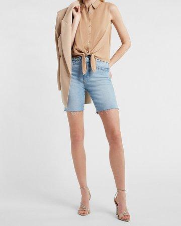 Sleeveless Tie Front Shirt