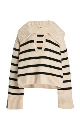 Evi Striped Cashmere Sweater By Khaite   Moda Operandi