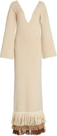Staud Puff Fringe Knit Dress