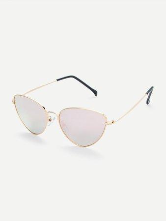 Metal Frame Cat Eye Sunglasses | SHEIN