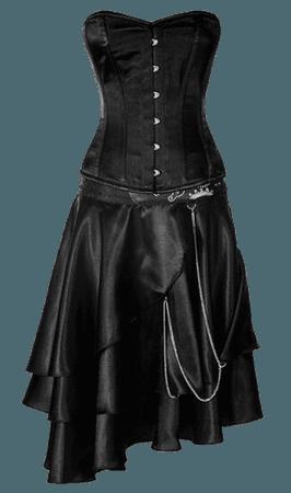 Black corset top PNG