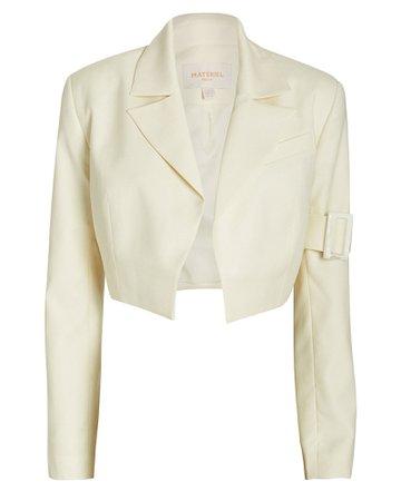 Twill Wool Bolero Jacket