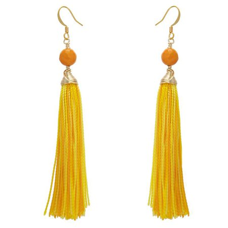 yellow orange earrings - Google Search